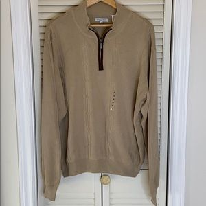 NWT Men's Alex Cannon knit long sleeve sweater